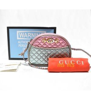 NWT Gucci Colorblock Metallic Leather Mini crossbo